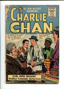 THE NEW MYSTERY ADVENTURES OF CHARLIE CHAN #9-1956-CHARLTON-VG minus VG