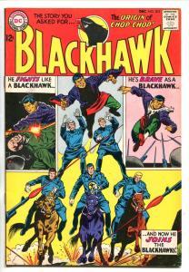 BLACKHAWK #203 1964-DC-CHOP-CHOP ORIGIN-vf+