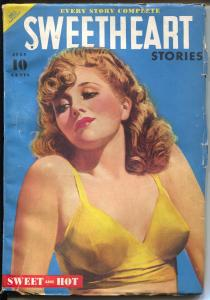 Sweetheart Stories 7/1940-Dell-pin-up girl portrait cover-Peggy Montgomery-FN