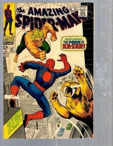 Amazing Spider-Man # 57 FN Marvel Comic Book Lizard Vulture Goblin Scorpion TJ1
