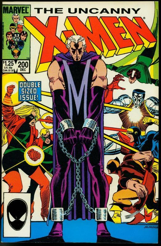 Uncanny X-Men #200 1985- Double size issue- Magneto NM
