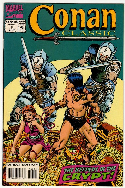 CONAN CLASSIC #8 (VF/NM) Barry Smith 1¢ Auction! No Resv! See More!!!