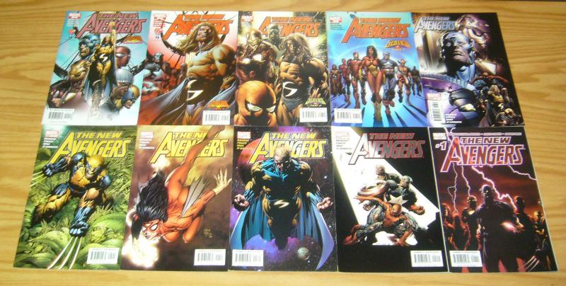New Avengers #1-64 VF/NM complete series + annual 1-3 + finale - bendis set lot