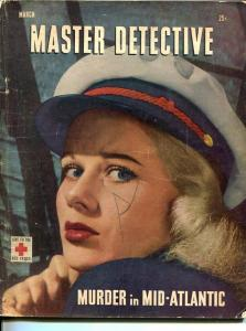 MASTER-DETECTIVE-MARCH 1947-G-SPICY-MURDER-KIDNAP-SALKINS COVER-BRETT HALLIDAY G