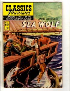 Classics Illustrated # 85 FN HRN # 85 Gilberton Comic Book Sea Wolf London JL26