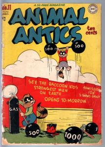 ANIMAL ANTICS #11-1947-RACCOON KIDS-GOLDEN AGE DC-FR FR