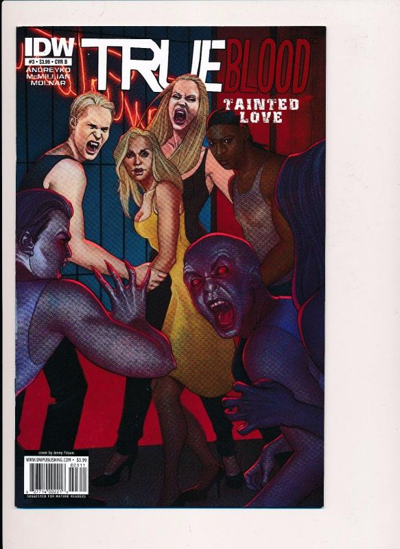 TRUE BLOOD Tainted Love #3, Variant Cover B ~2011~ IDW Comics ~ NM (HX376)
