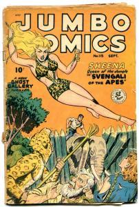 JUMBO COMICS #115 1948-SHEENA-Matt Baker Sky Girl- missing centerfold