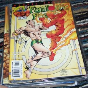 FANTASTIC FOUR #42 (471)  vol 3  2001 marvel     namor vs torch