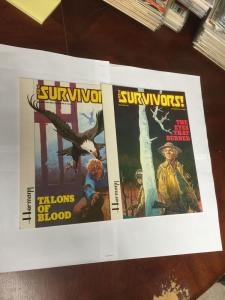 The Survivors Graphic Novel Talons Of Blood The Eyes That Burned Near Mint 1 2