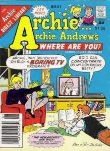 Archie…Archie Andrews, Where Are You? Digest Magazine #61 FN; Archie | save on s