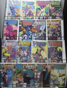 AVENGERS SPOTLIGHT (1989) SAMPLER! Marvel,19 issues! F/+ Hawkeye, Steve Gerber