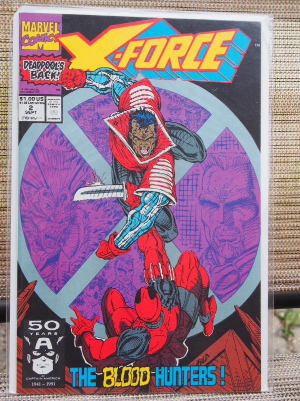 X-Force 2  VF/NM Unread  2nd Deadpool !