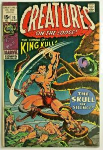 CREATURES ON THE LOOSE#10 FN 1971 1st KING KULL MARVEL BRONZE AGE WRIGHTSON
