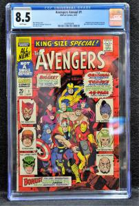 Avengers King-Size Special #1 (Marvel, 1967) CGC 8.5 - White Pages