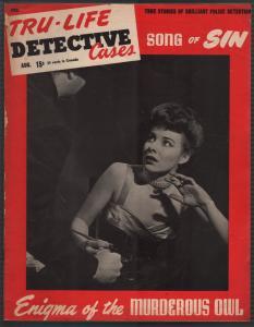 Tru-Life Detective Cases 8/1945-Tayshack-fountain pen girl -mystery-crime-VG