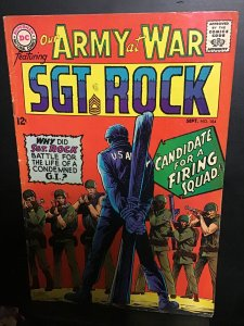 Our Army at War #184 (1967) Wow! Sgt. Rock firing squad. Wee Willie dies  FN/VF