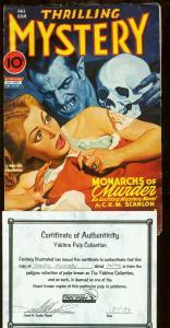 THRILLING MYSTERY 1944 FALL-VAMPIRE/SKULL COVER FN/VF