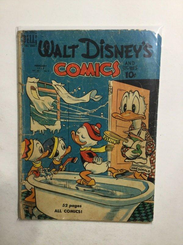 Walt Disney's Comics 5 1950 Good Gd Dell Comic