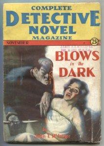 Complete Detective Novel Pulp November 1931- 1st HJ Ward bondage cover