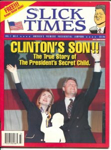 -Slick Times #4 Fall 1993-Bill & Hillary Clinton satire magazine-gags-jokes-FN