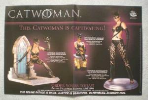 CATWOMAN STATUES Promo Poster,  17x11, 2004, Unused, more Promos in store