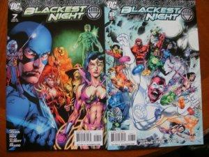 6 Near-Mint DC Comic BLACKEST NIGHT #2 #3 #4 #5 #7 #8 (2009) Green Black Lantern