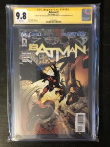 Batman New 52 #2 - CGC 9.8 Signed by Syner, Capullo & Glapion