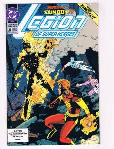 Legion Of Super Heroes #35 VG/FN DC Comics Comic Book Nov 1992 DE39 AD12