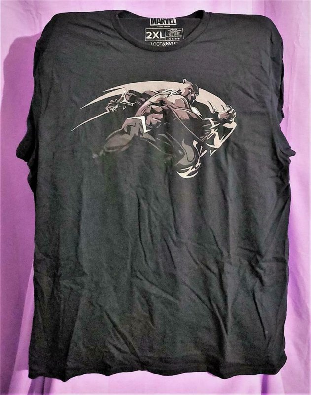 Loot Crate Exclusive BLACK PANTHER T-Shirt 2XL (Loot Wear)!