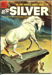 Lone Rangers Famous Horse Hi-Yo Silver-#15 1955-Dell-painted cover-VF