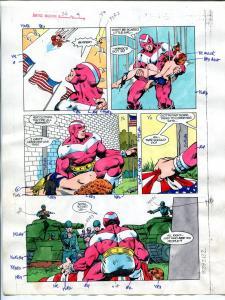 Justice Machine #24 Page #4 1988 Original Color Guide