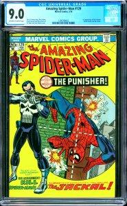 Amazing Spider-Man #129 CGC Graded 9.0 1st appearanceof the punisher (Frank C...