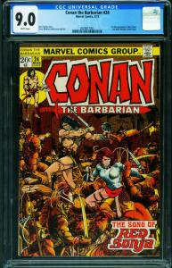Conan the Barbarian #24 CGC 9.0 - Marvel Comics- First Full RED SONJA 2020817001
