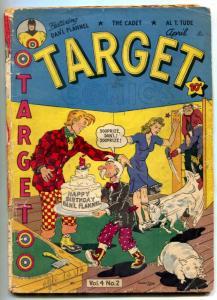 Target Vol. 4 #2 1943-Golden Age Comic- The Cadet G