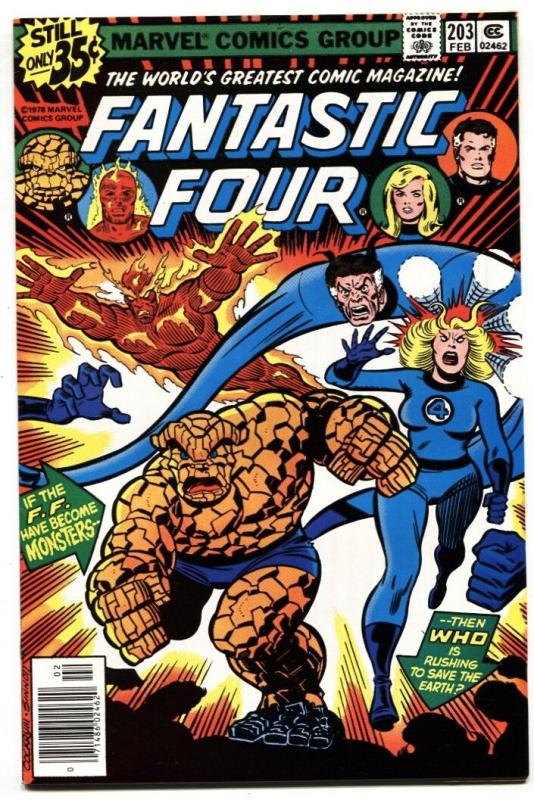 FANTASTIC FOUR #203-GREAT COVER Marvel-1979 NM-