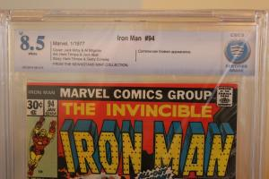 Iron Man #94 (Marvel, 1977) CBCS VF+ 8.5 White pages