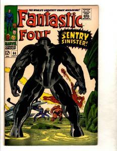 Fantastic Four # 64 VF/NM Marvel Comic Book Dr. Doom Human Torch Thing FM3