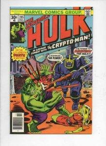 HULK #205, VF/NM, Incredible, Bruce Banner, Crypto-Man, 1968 1976, Marvel