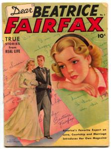 Dear Beatrice Fairfax #5 1950- Schomburg Romance cover- 1st issue G/VG