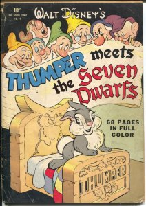 Thumper Meets The Seven Dwarfs-Four Color Comics #19 1943-Dell-Walt Disney-VG-