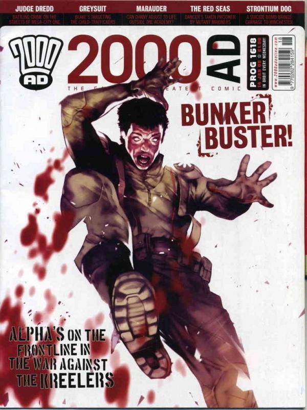 2000 AD Magazine #1618 VF/NM judge dredd A.D. strontium dog greysuit marauder