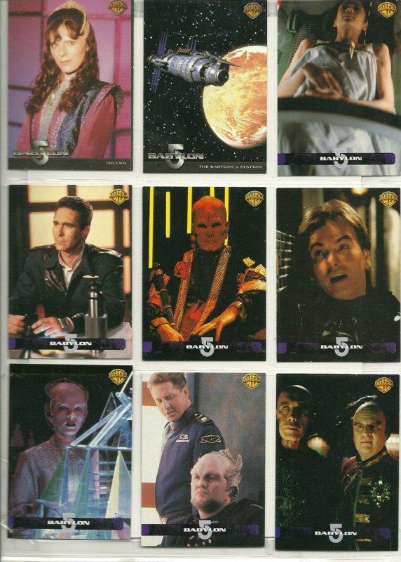 Rare Babylon 5 Trading Cards