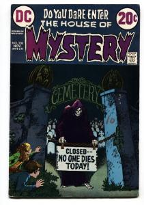 House Of Mystery #208 1972- DC Bronze Horror- Graveyard cover