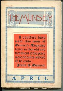 Munsey 4/1901-early pulp title-over 100 years old-VG