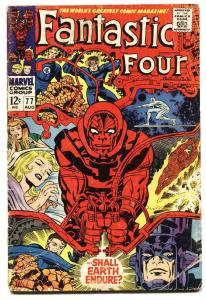 FANTASTIC FOUR #77 1968- SILVER SURFER-JACK KIRBY ART VG