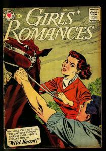 Girls' Romances #55 1958 - DC Romance- Wild horse cover - VG