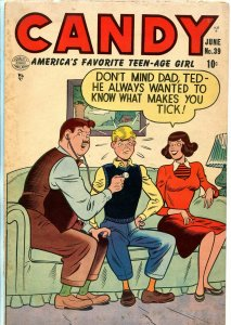Candy #39 1953-Quality-spicy Good Girl Art-teen humor-VG