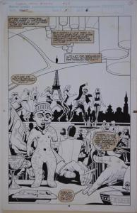 PAUL GULACY / MARTIN original art, MARVEL COMICS PRESENTS #68 pg 14,11x17, Ju-Ju