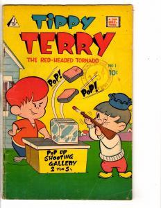 Tippy Terry # 1 VG I W Enterprises Comic Book Top Quality Red Head Tornado J275